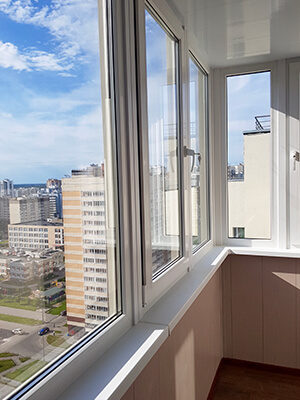 отделочные работы балкона