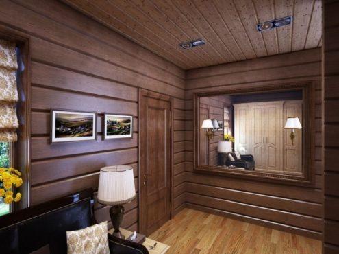 отделка квартиры древесиной