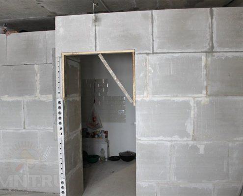 Наращивание дверного проема из пеноблоков