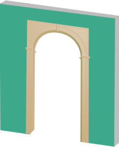 установка дверной арки