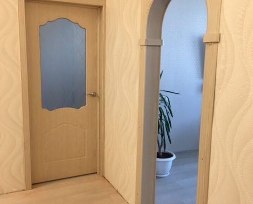 отделка дверной арки в квартире