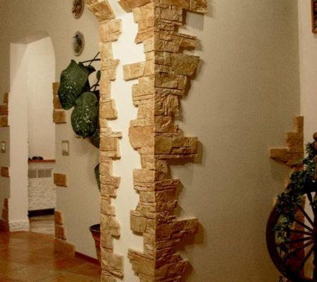 заказать отделку арки декоративным камнем
