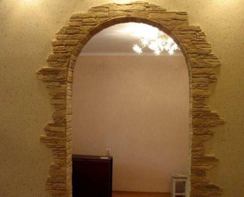 арка в искусственном камне