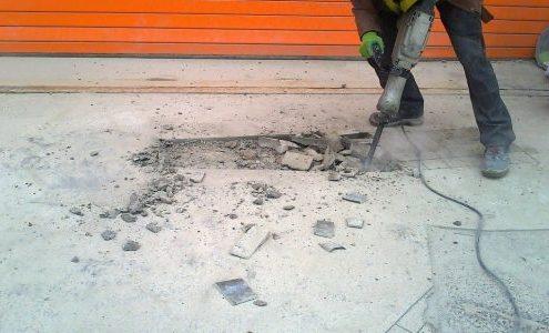 снятие бетонной стяжки